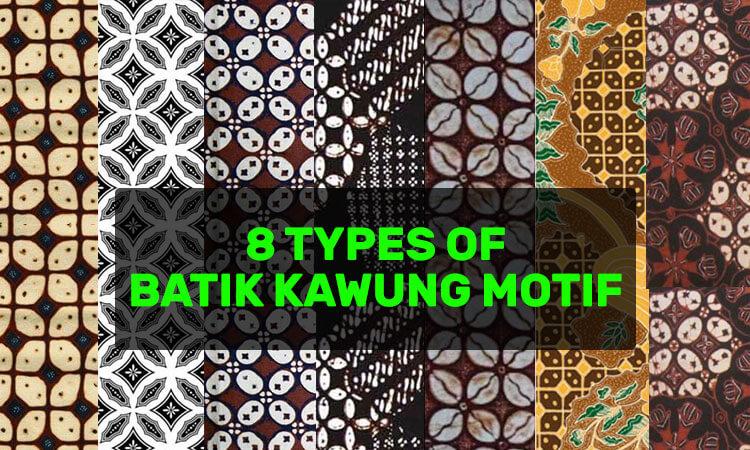 8 types of batik kawung motif