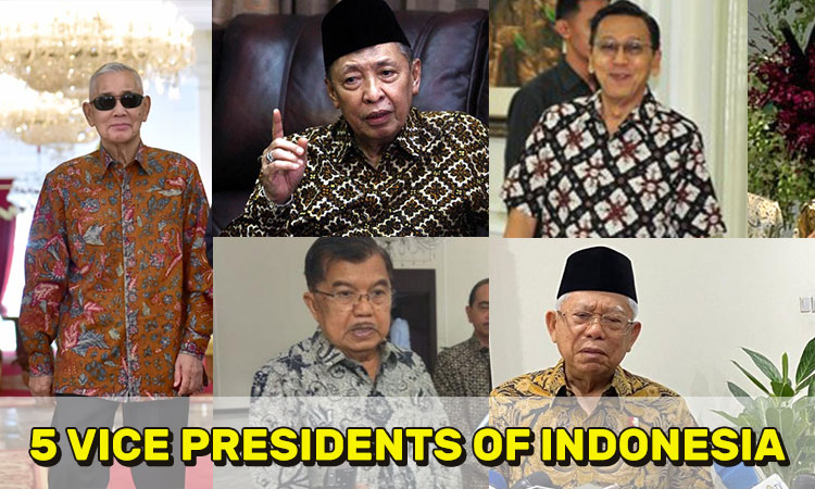 5 Vice Presidents of Indonesia