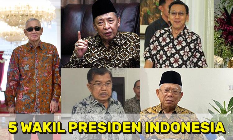 5 Wakil Presiden Indonesia