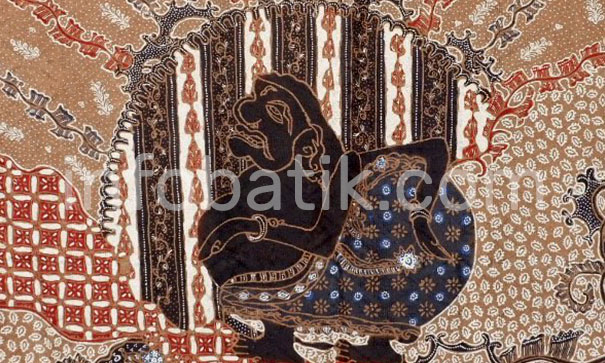 Indonesian Batik with Wayang Semar motif