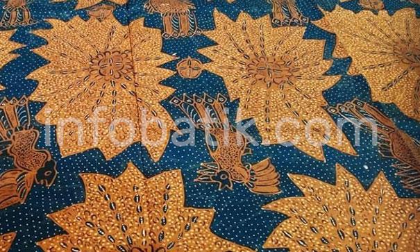 Batik Indonesia Motif Daun Tempayang