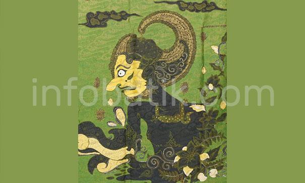 Batik Indonesia Motif Wayang Arjuna