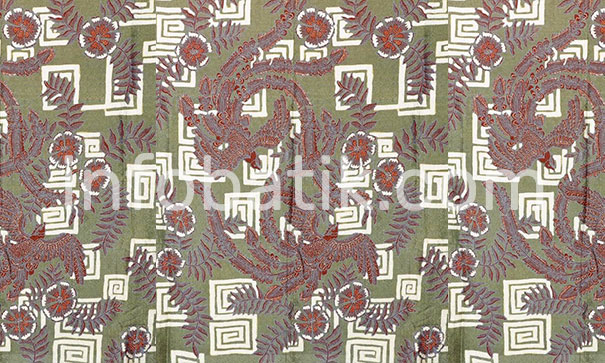 Indonesian Batik Motif Hong Bird