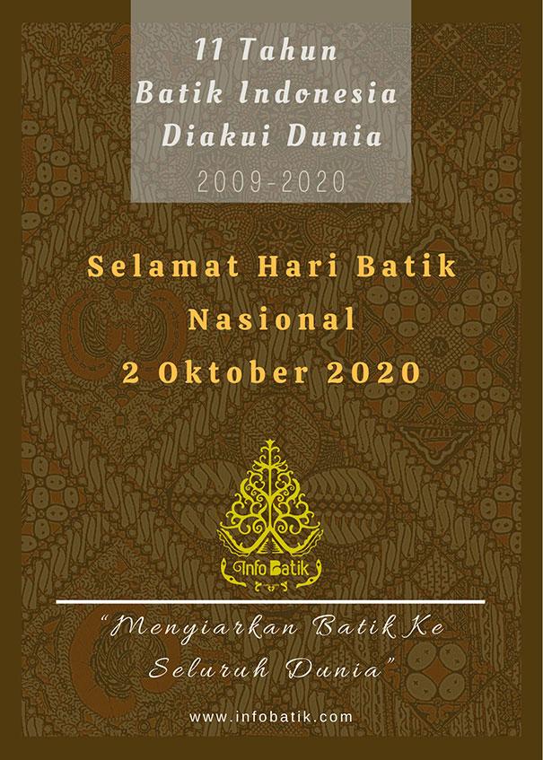 Poster Hari Batik Nasional 2020