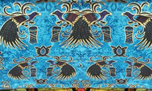 Motif Batik Burung Cendrawasih