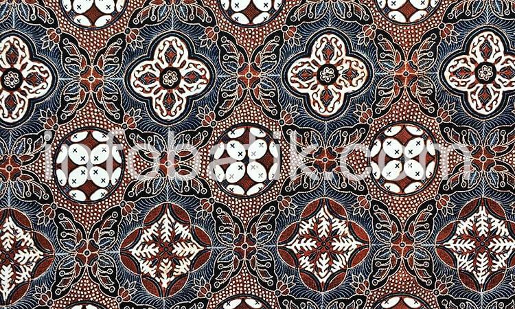 Batik Indonesia Jateng Motif Ceplok Sekar Asih
