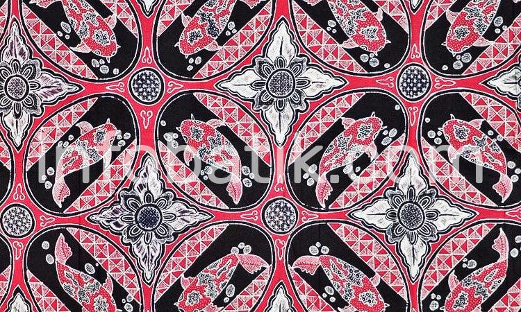 Batik Indonesia Motif Ikan Koi