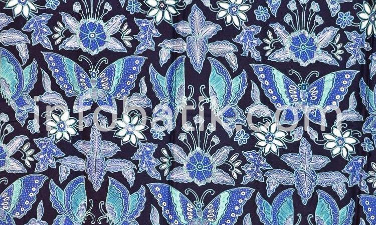 Batik Indonesia Motif Kupu Kupu