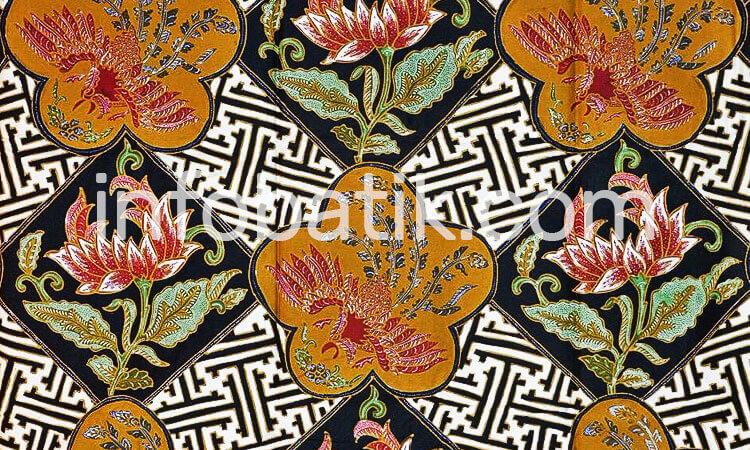 Batik Indonesia Motif Bunga Teratai