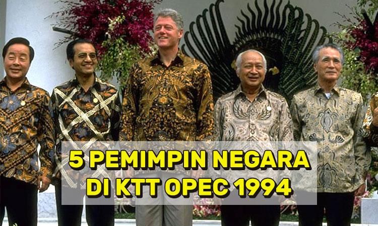 5 Pemimpin Negara di KTT OPEC 1994