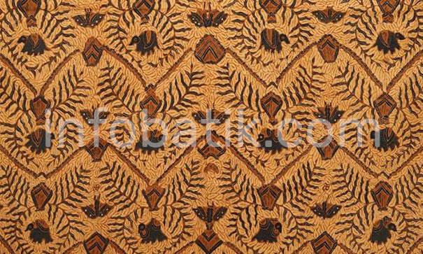 Indonesian Batik with Elephant Birowo motif
