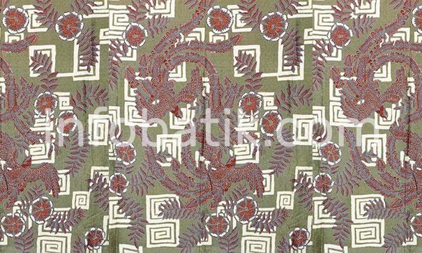 Batik Indonesia Motif Burung Hong